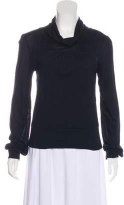 Diane von Furstenberg Cowl Neck Long Sleeve Top