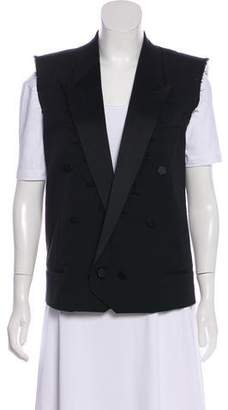 Saint Laurent Peak-Lapel Open Front Vest