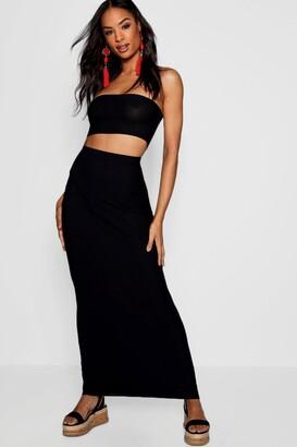 boohoo Tall Basic Jersey Maxi Skirt