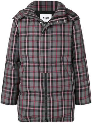 MSGM checkered print coat