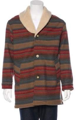 Pendleton Striped Virgin Wool Coat