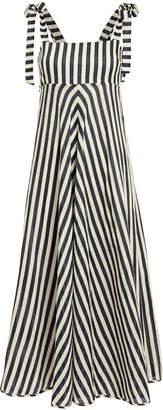 Zimmermann Honour Striped Linen Dress