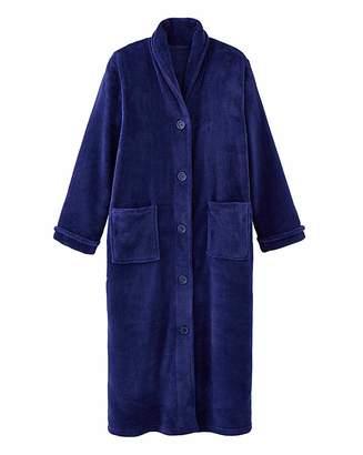 Pretty Secrets Button Fleece Gown 48in