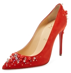 Christian Louboutin  Candidate Suede Pointed-Toe Pump