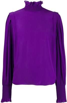 Etoile Isabel Marant high neck gathered blouse
