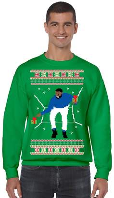 Allntrends Men's Crewneck 1-800 Hotline Bling Ugly Christmas Sweater (L, )