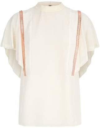 Chloé Beaded Silk Blouse