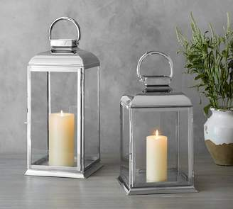 Pottery Barn Arlington Lantern - Nickel
