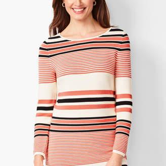Talbots Ottoman Rib Stripe Sweater