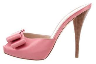 Fendi Bow Peep-Toe Pumps