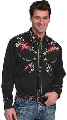 Scully Western Shirt Mens L/S Snap EmbroideredLT P-633
