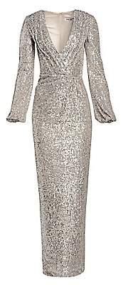 Pamella Roland Women's Sequin V-Neck Gown