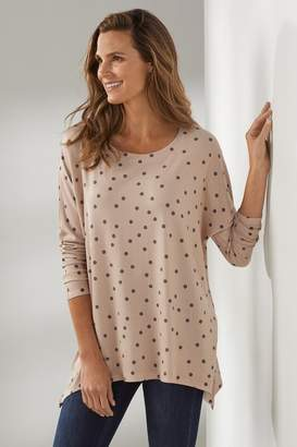 Soft Surroundings Pretty Pink Polka Dot Tunic
