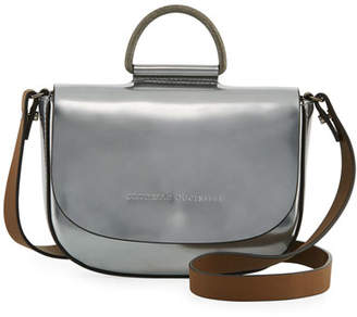 Brunello Cucinelli Mirror Leather Top-Handle Bag