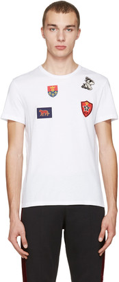 Alexander McQueen White Badges & Butterfly T-Shirt $295 thestylecure.com