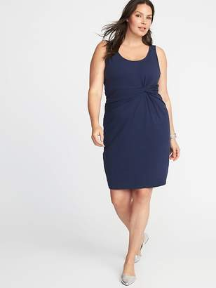 Old Navy Plus-Size Sleeveless Twist-Front Bodycon Dress