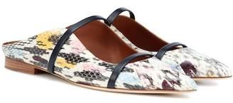 Malone Souliers Maureen snakeskin slippers
