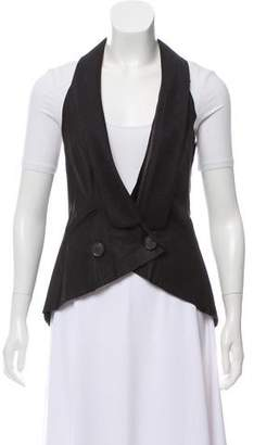 Illia Leather Shawl Collar Vest