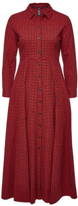 Woolrich Checked Cotton Maxi Dress