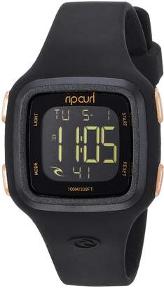 Rip Curl Women's 'Candy' Quartz Plastic and Silicone Sport Watch, Color Black (Model: A3126G-RSG)