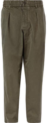 Universal Works Tapered Pleated Cotton-Drill Trousers