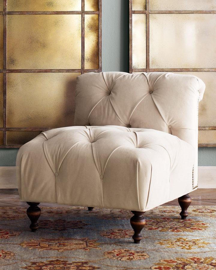 Old Hickory Tannery Tufted Velvet Chair