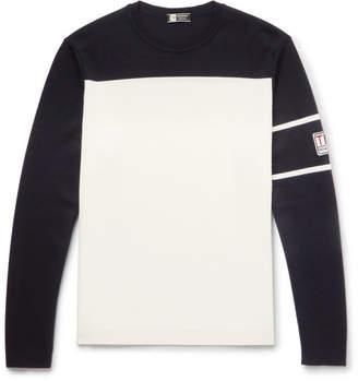 Z Zegna Two-Tone TECHMERINO Wool Sweater