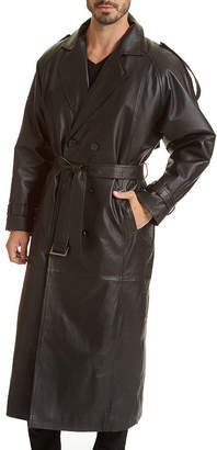 Excelled Leather Trench Coat - Big & Tall