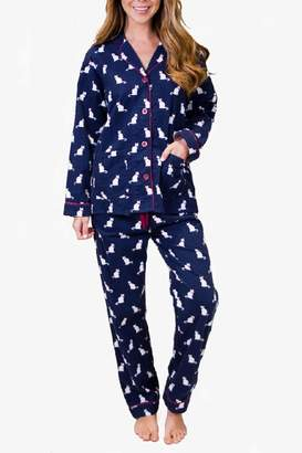 PJ Salvage Cat Flannel Pajamas
