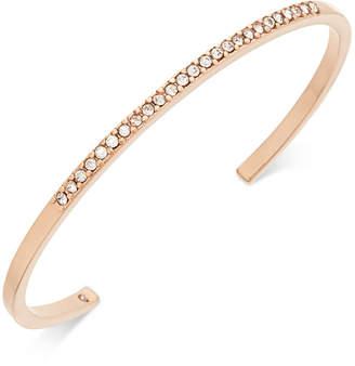 Kate Spade Rose Gold-Tone Pavé Cuff Bracelet
