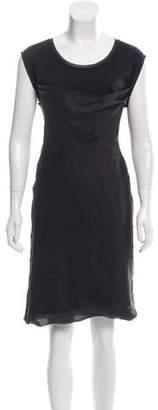 Chloé Sheer-Trimmed Knee-Length Dress