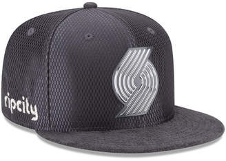 New Era Portland Trail Blazers On-Court Graphite Collection 9FIFTY Snapback Cap
