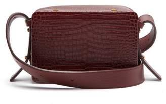 Lutz Morris - Maya Crocodile Effect Leather Cross Body Bag - Womens - Burgundy