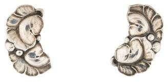 Georg Jensen Double Leaf Earrings