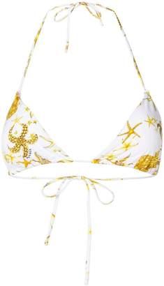 Versace jewelled starfish print bikini