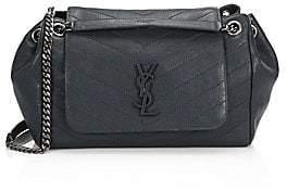 Saint Laurent Women's Medium Nolita Monogram Matelassé Leather Shoulder Bag