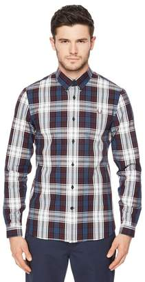 Fred Perry Maroon Bold Checked Shirt