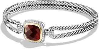 David Yurman Albion Bracelet with Garnet, Diamonds, and 18K Gold