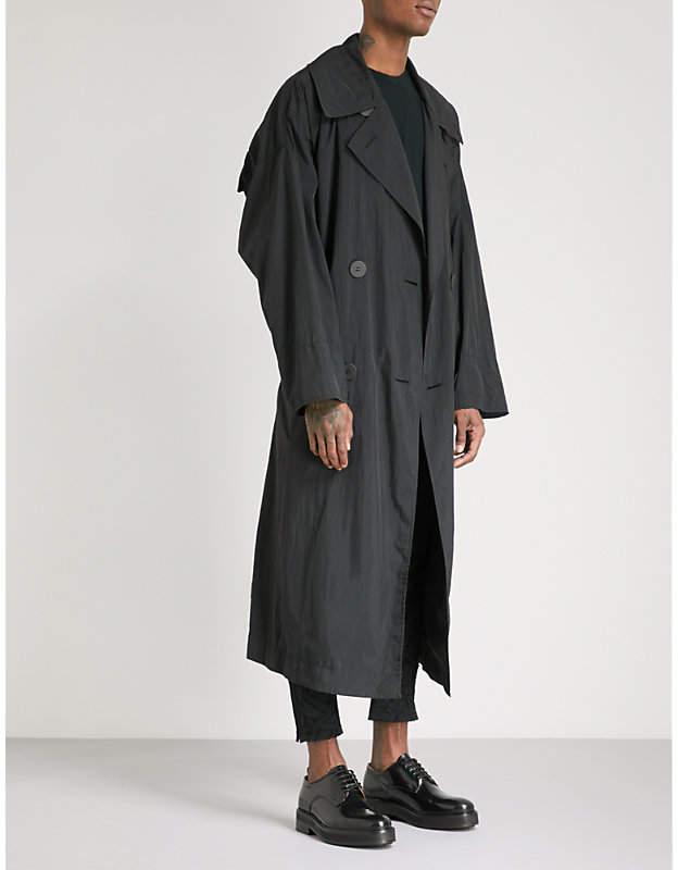 Issey Miyake Draped shell trench coat