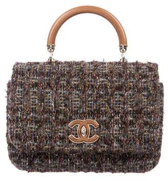 6f57dbe5f915 Chanel 2018 Knock On Wood Tweed Top Handle Bag