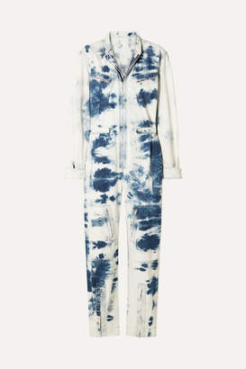 Stella McCartney Tie-dye Denim Jumpsuit - Indigo