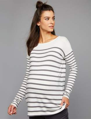 A Pea in the Pod Drop Shoulder Maternity Shirt