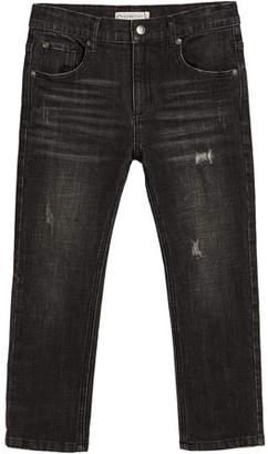 Appaman Slim Leg Distressed Denim Jeans, Size 2-14