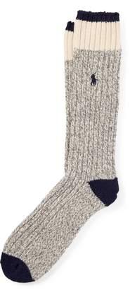 Ralph Lauren Rib-Knit Wool-Blend Boot Socks
