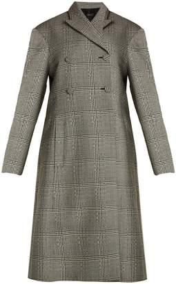 Ellery Bel Air checked double-breasted wool coat