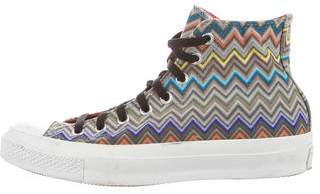 Missoni All Star Canvas High-Top Sneakers
