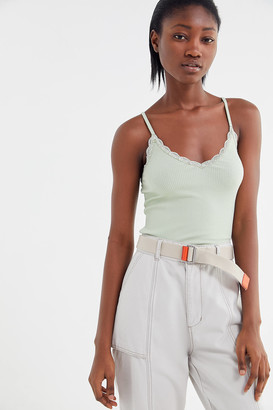 Urban Outfitters Ribbed Lace Trim V-Neck Cami