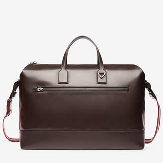 Bally Tammi Xl Brown, Men's plain calf leather weekender bag in chocolate