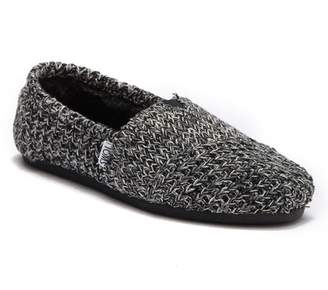 Toms Classic Knit Faux Fur Lined Slip-On Sneaker