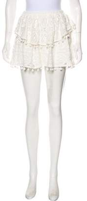 Saylor Crochet Mini Skirt w/ Tags